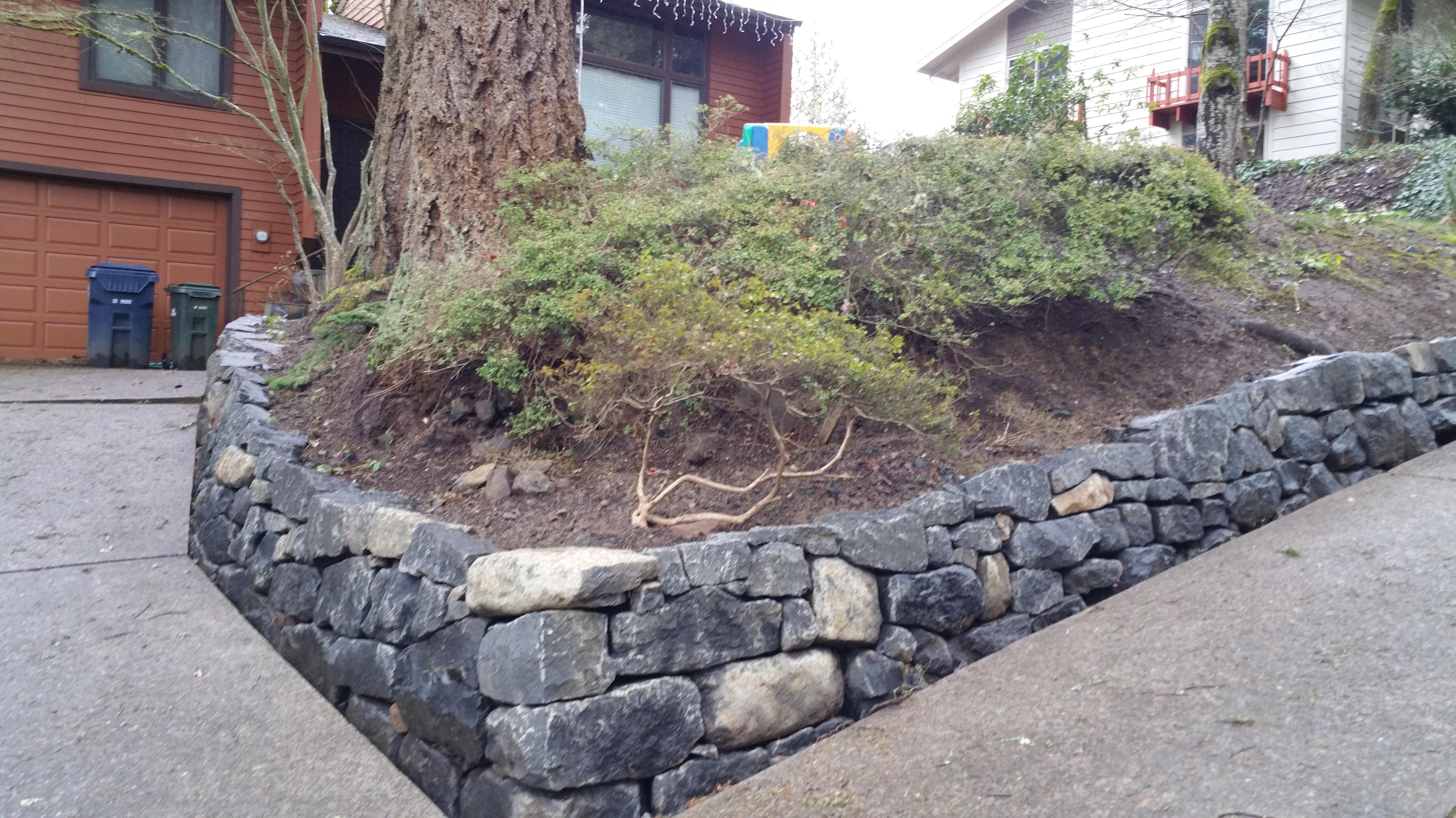 Black Basalt Stone Wall : Black basalt wall maier masonry